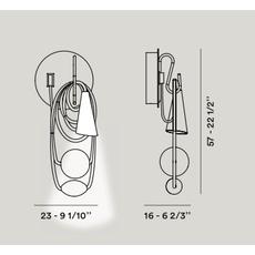 Настенный светильник Foscarini FILO 289005-08, фото 2