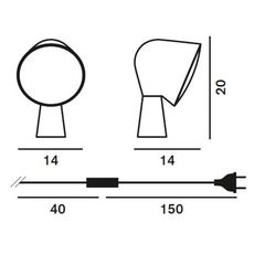 Настольный светильник Foscarini BINIC 200001 87, фото 4