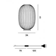 Настольный светильник Foscarini PLASS 2240012 25, фото 2