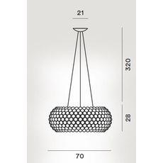 Подвесной светильник Foscarini CABOCHE 138017/L/LD 52, фото 2