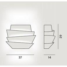 Настенный светильник Foscarini LE SOLEIL 181005-bianco, фото 2