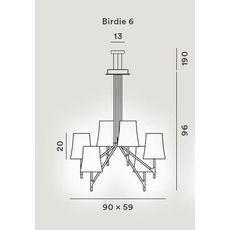 Подвесной светильник Foscarini BIRDIE 2210076-grigio, фото 2