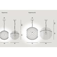 Подвесной светильник Foscarini SUPERNOVA 102007/3-20, фото 2