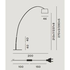 Напольный светильник Foscarini TWIGGY 159003-nero, фото 2