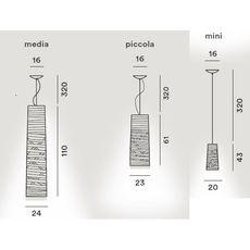 Подвесной светильник Foscarini TRESS 182017-nero, фото 2