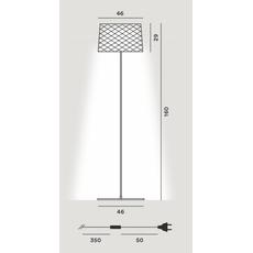 Напольный светильник Foscarini TWIGGY Grid Lettura 290004-65, фото 2