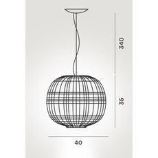 Подвесной светильник  TARTAN Mylight - bianco, фото 2