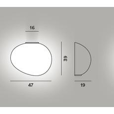Настенный светильник Foscarini GREGG grande semi 1, фото 2