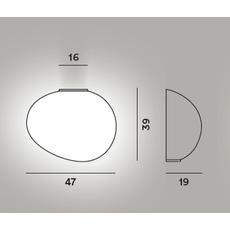 Настенный светильник Foscarini GREGG grande semi 1 My Light, фото 2