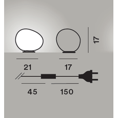 Настольный светильник Foscarini GREGG midi tavolo, фото 2