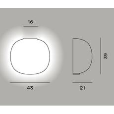 Настенный светильник Foscarini GEM semi parete My Light, фото 2