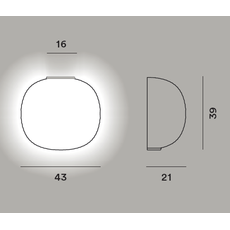 Настенный светильник Foscarini GEM semi parete, фото 2