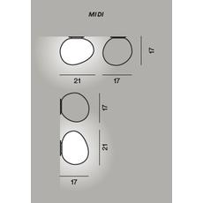 Настенно-потолочный светильник Foscarini GREGG midi, фото 2
