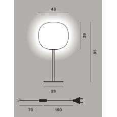 Настольный светильник Foscarini GEM tavolo alta, фото 2