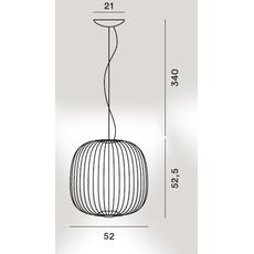 Подвесной светильник Foscarini Spokes 2 oro, фото 2