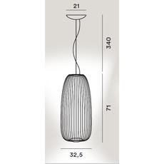Подвесной светильник Foscarini Spokes 1 nero, фото 2