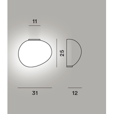 Настенный светильник Foscarini GREGG media semi 2 My Light, фото 2