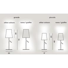 Настольный светильник Foscarini BIRDIE 221001-grafite, фото 2