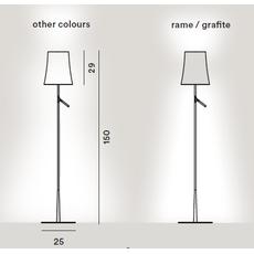 Напольный светильник Foscarini BIRDIE-grigio, фото 2
