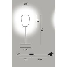 Настольный светильник RITUALS 1 tavolo alta, фото 2