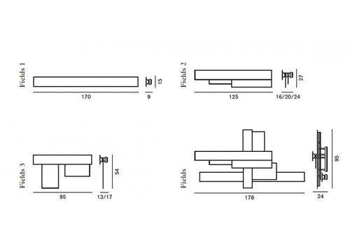 Настенный светильник Foscarini FIELDS 1740051 63, фото 3