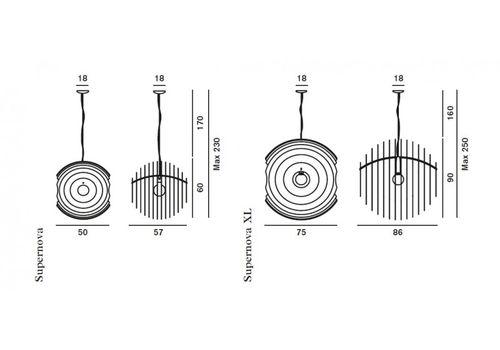 Подвесной светильник Foscarini SUPERNOVA 102007/3-66, фото 2