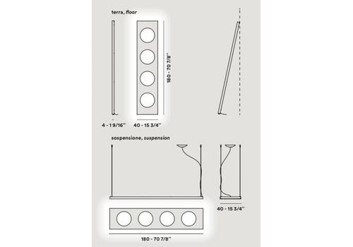 Напольный светильник Foscarini DOLMEN 280003-25, фото 2