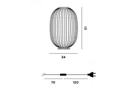 Настольный светильник Foscarini PLASS 2240012 30, фото 2