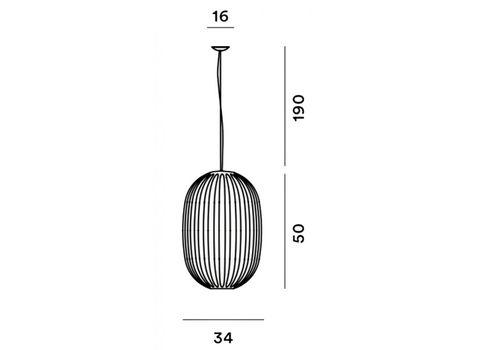 Подвесной светильник Foscarini PLASS 2240072/4 25, фото 3