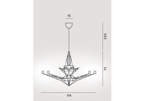 Подвесной светильник Foscarini LIGHTWEIGHT 064007-R1 ZI, фото 2