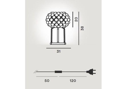 Настольный светильник Foscarini CABOCHE 138012 52, фото 2