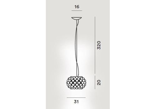 Подвесной светильник Foscarini CABOCHE PICCOLA 138027-giallo oro, фото 2