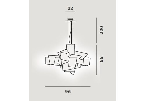 Подвесной светильник Foscarini BIG BANG 151007-bianco, фото 2