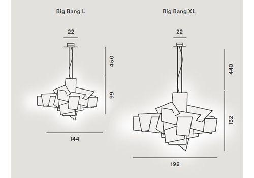Подвесной светильник Foscarini BIG BANG 151017-rosso, фото 2
