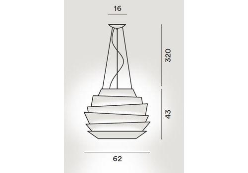 Подвесной светильник Foscarini LE SOLEIL 181007-rosso, фото 2
