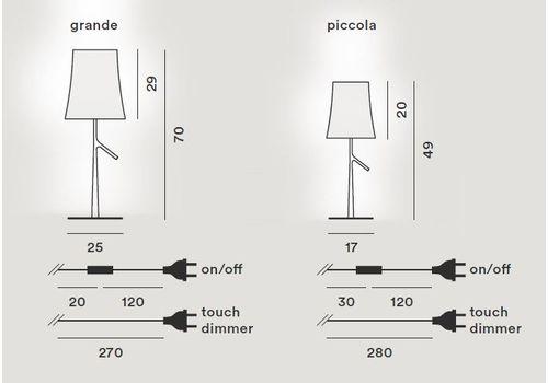 Настольный светильник Foscarini BIRDIE 221001-grigio, фото 2