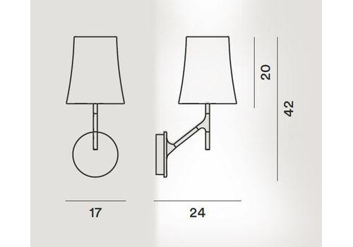 Настенный светильник Foscarini BIRDIE 2210052-grigio, фото 2