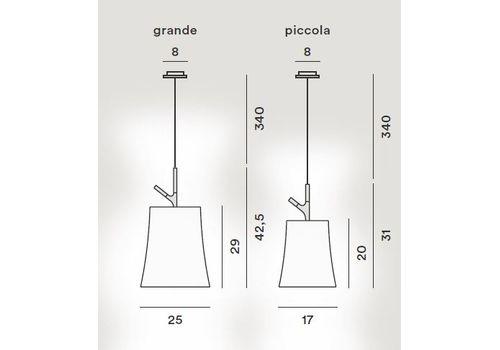 Подвесной светильник Foscarini BIRDIE 221017/27-grigio, фото 2