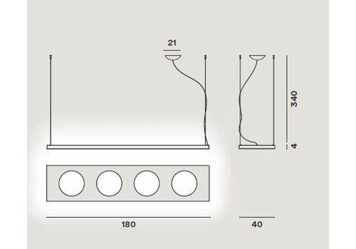 Подвесной светильник Foscarini DOLMEN 280007-alluminio, фото 2
