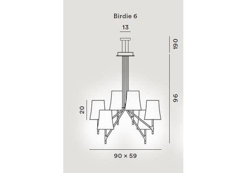 Подвесной светильник Foscarini BIRDIE 2210076-bianco, фото 2