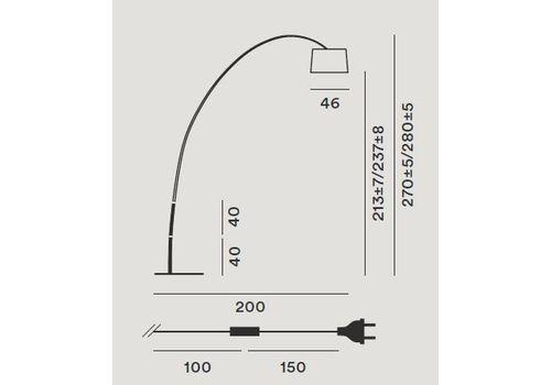 Напольный светильник Foscarini TWIGGY 159003-cremisi, фото 2