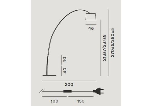 Напольный светильник Foscarini TWIGGY MyLight 159003ML-67, фото 2