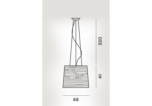 Подвесной светильник Foscarini TRESS 182007-nero, фото 2