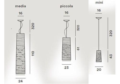 Подвесной светильник Foscarini TRESS 182017-greige, фото 2