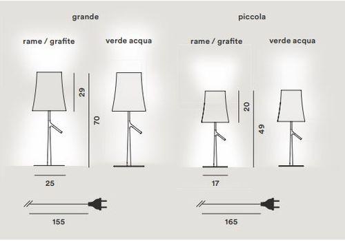 Настольный светильник Foscarini BIRDIE 221001-verde acqua, фото 2
