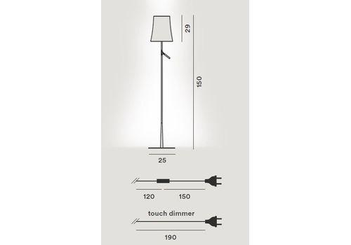 Напольный светильник Foscarini BIRDIE 221004-grafite, фото 2