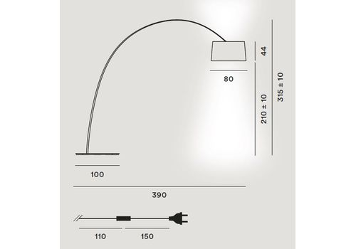 Напольный светильник Foscarini TWIGGY 275013 87, фото 2