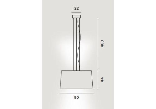 Подвесной светильник Foscarini TWIGGY 275017-cremisi, фото 2