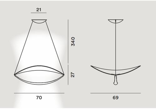 Подвесной светильник Foscarini PLENA 283007, фото 2