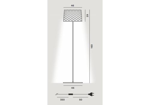 Напольный светильник Foscarini TWIGGY Grid Lettura 290004-25, фото 2